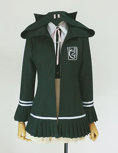 povoljno Anime cosplay-Inspirirana Dangan Ronpa Chiaki Nanami Video igra Cosplay nošnje cosplay Hoodies Jednobojni Dugih rukava Kravata Kaput Shirt Kostimi