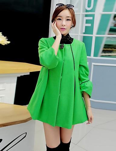 levne Dámské kabáty a trenčkoty-yalun®hot prodej! dámské plus velikosti korejsky mys srst
