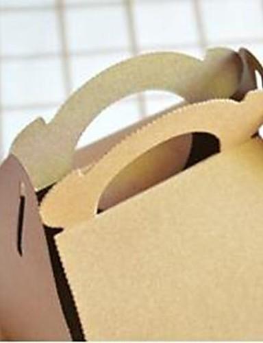 preiswerte Weihnachts Geschenke-Mode tragbaren Cookies braunen Papierkasten (1pc)