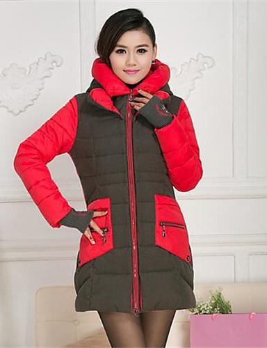 yibeier® női alkalmi kapucnis vékony molett meleg kabát 2060674 2019 –  9.44 87e9833966