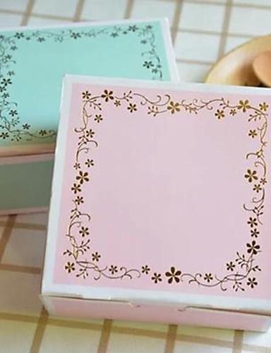 preiswerte Weihnachts Geschenke-klassische Mode Dame Kuchen Papierkasten (Band-Aufkleber nicht enthalten) (blau, pink) (1pc)