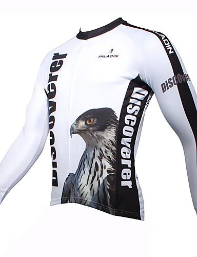 cheap Massive Clearance Sale-ILPALADINO Men's Long Sleeve Cycling Jersey Winter Eagle Bike Jersey Top Mountain Bike MTB Road Bike Cycling Thermal / Warm Breathable Quick Dry Sports Clothing Apparel / Ultraviolet Resistant