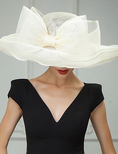 preiswerte Partyhut-Flachs Kentucky Derby-Hut / Hüte / Kopfbedeckung mit Blumig 1pc Hochzeit / Besondere Anlässe / Normal Kopfschmuck