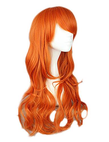 povoljno Maske i kostimi-One Piece Nami Cosplay Wigs Žene 26 inch Otporna na toplinu vlakna žuta Anime