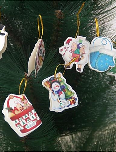 preiswerte Weihnachts Geschenke-12pcs Nachricht Karten Weihnachtsbaum Dekoration (Zufallsbilder)