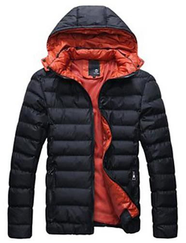 preiswerte Überbekleidung-Klassisch & Zeitlos Parka, Volltonfarbe Baumwolle / Polyester Reine Farbe Grün / Blau / Königsblau
