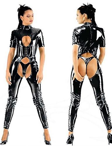 baratos Fantasias Sexy-Mulheres Uniformes Sensuais Gênero Ternos Zentai Fantasias de Cosplay Catsuit Collant / Pijama Macacão