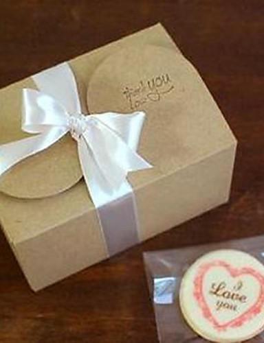 preiswerte Weihnachts Geschenke-einfachen klassischen Kuchen braunen Papierkasten (Band-Aufkleber nicht enthalten) (1pc)