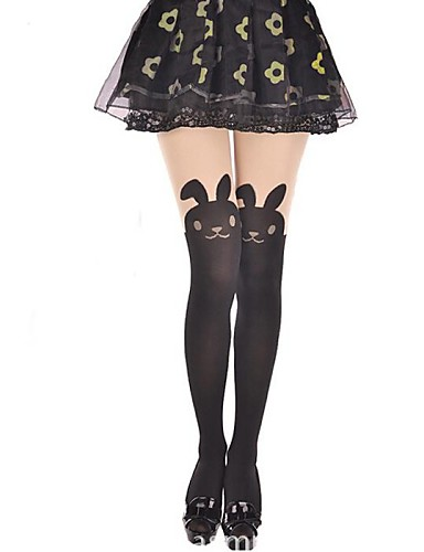 levne Punčocháče-Princeznovské Dámské Sweet Lolita Ponožky a punčochy ponožky do výšky stehen Zvíře Králíček Samet Lolita Příslušenství / Vysoká pružnost