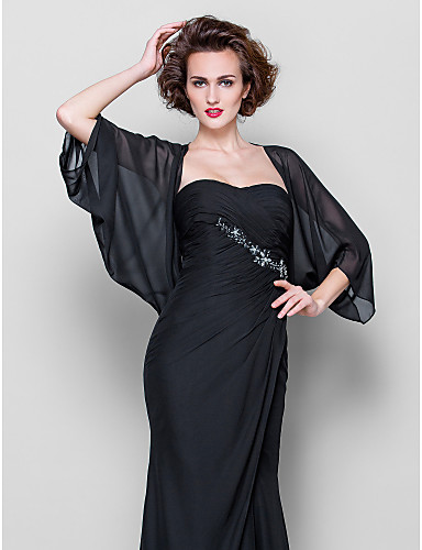 cheap Wedding Wraps-Coats / Jackets Chiffon Wedding / Party Evening / Casual Women's Wrap / Bolero With Draping