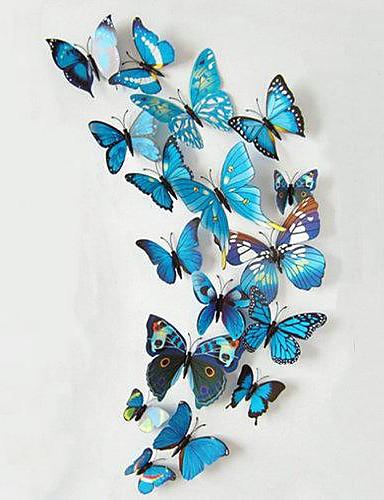 preiswerte Tier Wandsticker-Tiere Wand-Sticker 3D Wand Sticker Dekorative Wand Sticker, Vinyl Haus Dekoration Wandtattoo Wand