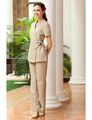 spa uniforms women s short sleeve crossover collar beauty