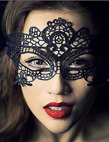 povoljno Maske i kostimi-Čipka Mask Maska za maskiranje Maska za Noć vještica Inspirirana Karneval Crn Halloween Muškarci Žene