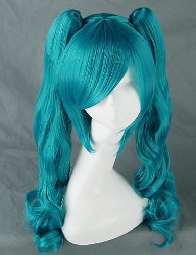 preiswerte Videospiele Cosplay-Vocaloid Hatsune Miku Cosplay Perücken Damen 30 Zoll Hitzebeständige Faser Anime