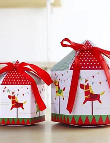 preiswerte Weihnachts Geschenke-nette Art und Karussell mini oder große Geschenk Papierkasten (1pc)