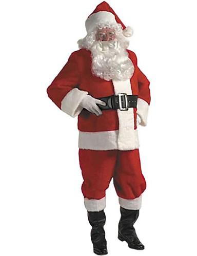 baratos Halloween & Fantasias de Carnaval-escuro terno de santa natal dos homens adultos traje vermelho