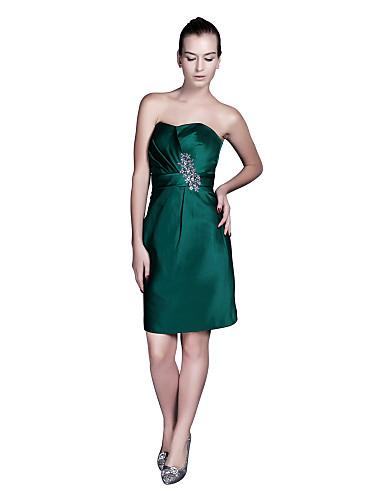 faaa67d22fae kappe   kolonne stropløs knælang satin brudepige kjole (msa2581452364-BD)  2482889 2019 –  69.99