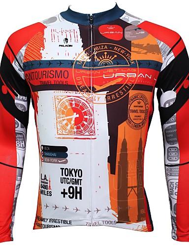 povoljno Biciklističke majice-ILPALADINO Muškarci Dugih rukava Biciklistička majica Bicikl Biciklistička majica Majice Brdski biciklizam biciklom na cesti Prozračnost Quick dry Ultraviolet Resistant Sportski 100% poliester Odjeća
