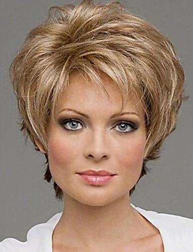 preiswerte Pflege & Haar-Synthetische Perücken Locken Locken Perücke Blond Blonde Synthetische Haare 10 Zoll Damen Blond