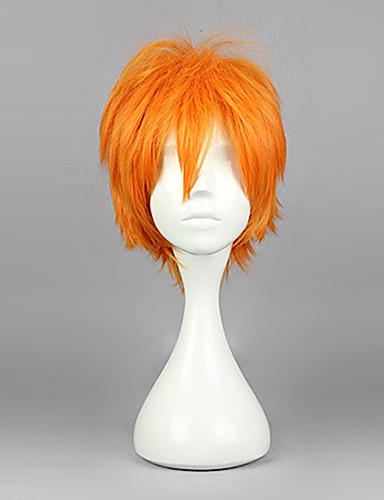 levne Cosplay paruky-Haikyuu Hinata Syouyou Cosplay Paruky Pánské 12 inch Horkuvzdorné vlákno Oranžová Anime