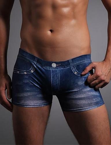 voordelige Herenondergoed & Zwemkleding-Print, 3D - Super Sexy Boxer shorts Heren 1 Stuk / Print