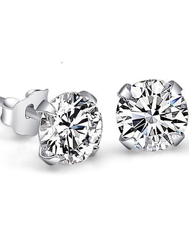 Crytech Women Dainty Sparkling Eternal Star Rhinestones Crystal Ear Stud Earrings Delicate Cz Cubic Zirconia Diamond Stud Earrings for Lady Bridal Wedding Banquet Jewelry