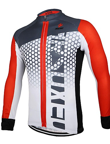 povoljno Odjeća za vožnju biciklom-Arsuxeo Muškarci Dugih rukava Biciklistička majica Crna / Green White+Red Bule / crna Bicikl Biciklistička majica Majice Prozračnost Quick dry Anatomski dizajn Sportski 100% poliester Brdski