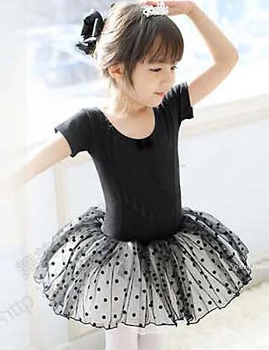 levne Shall We®-Balet Šaty Trénink Bavlna Krátké rukávy Přírodní Princeznovské