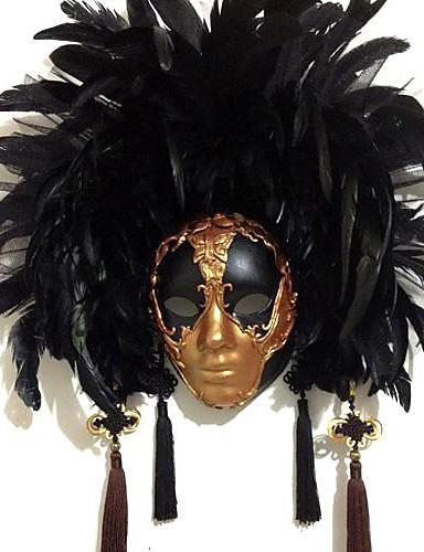 preiswerte Cosplay & Kostüme-Feder Maske Karnevalsmaske Inspiriert von Venezianisch Halloween Karneval Damen