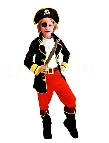 preiswerte Spielzeug & Hobby Artikel-Seeräuber Cosplay Kostüme Kinder Halloween Karneval Kindertag Fest / Feiertage Polyester Karneval Kostüme Patchwork / Schuhe / Hut