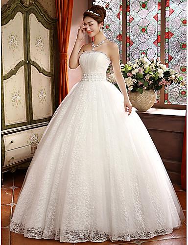 385f110843f С пышной юбкой Свадебное платье В пол Без бретелей Кружева с 2699253 2019 –   109.99
