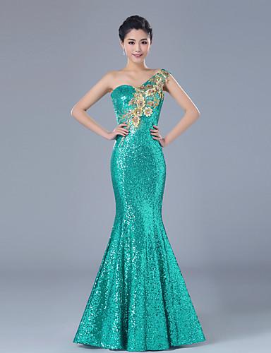 Vestido de fiesta estilo sirena