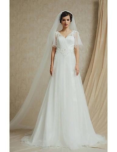 Hochzeitskleid A Linie Hof Schleier Trager 2697046 2019 279 99