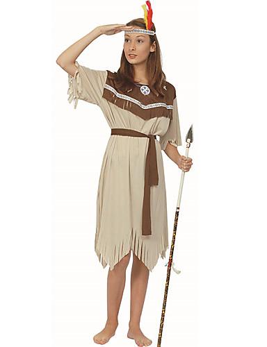 preiswerte Kostüme für Erwachsene-Primitiv Cosplay Kostüme Damen Halloween Fest / Feiertage Polyester Damen Karneval Kostüme / Kopfbedeckung