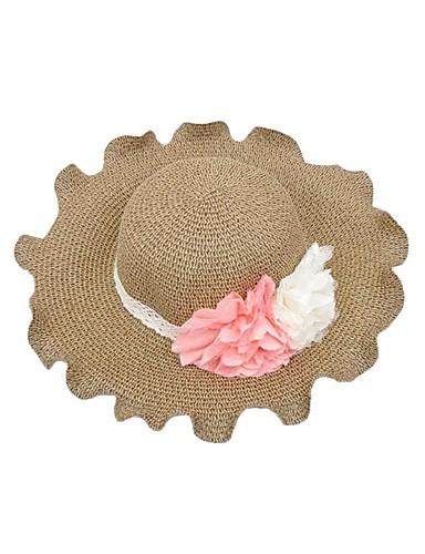 Mujer Verano Casual Hilo Sombrero Floppy Sombrero de Paja Sombrero para el  sol Beige Caqui 2925308 2019 –  10.99 6d120b22581