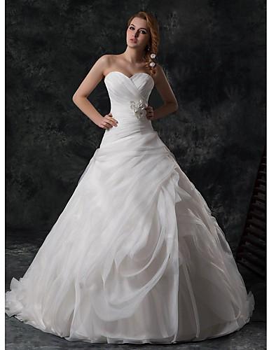 b7ffbb587c28 Široká sukně Srdíčko Extra dlouhá a široká vlečka Svatební šaty (  Satén Hedvábí Tyl Sametový šifón ) 2870490 2019 –  279.99