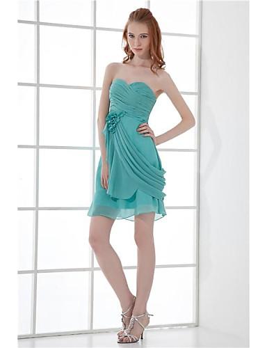 b732cbde1 Fiesta formal Vestido - Verde Jade Corte A Corto - Escote Corazón Gasa  Tallas grandes   Tallas pequeñas 2839283 2019 –  99.99