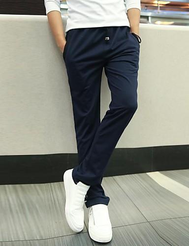 Hombre Casual Corte Recto Corte Ancho Pantalones de Deporte Chinos  Pantalones - Un Color 2780445 2019 –  17.59 b9824407d4c5