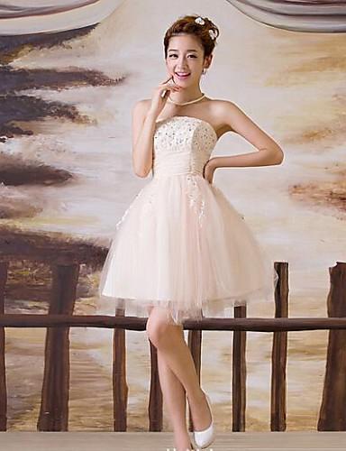 d7f9bf6fdd9 plesové šaty krátký   mini svatební šaty -strapless tyl 2828563 2019 –   39.99
