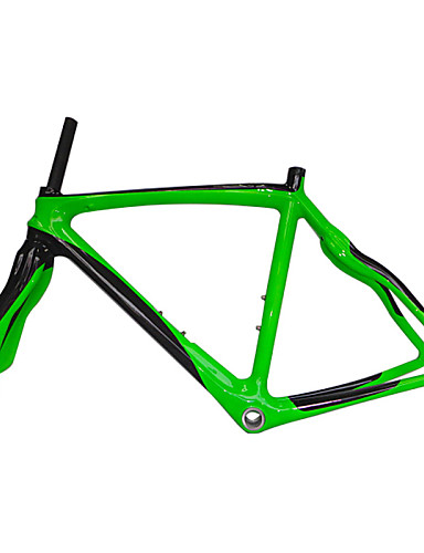 cheap Bike Frames-Neasty Brand 700C Full Carbon Fiber Frame and Fork Green Color Painted 48/50/52/56CM