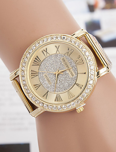 yoonheel Dam Armbandsur Quartz Metall Guld Diamant Imitation Ramtyp damer Ledigt Simulerad Diamond Watch Mode Elegant - Brun Ett år Batteriliv / SODA AG4