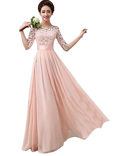 cheap Women's Dresses-Maxi long Dress Dusty Rose All Seasons Party White Purple Olive Fuchsia Pink Light Blue