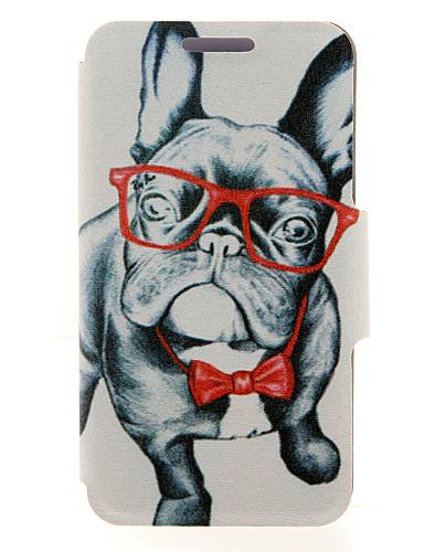 fodral Till Samsung Galaxy A8 / A7 / A5 Korthållare / med stativ / Lucka Fodral Hund PU läder