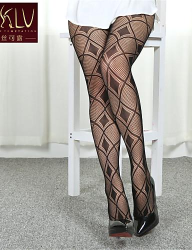 preiswerte Damen Socken & Strumpfwaren-Damen Strumpfhose - Geometrisch Medium Schwarz Einheitsgröße