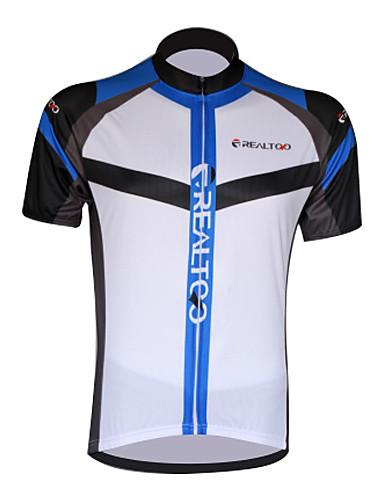 povoljno Odjeća za vožnju biciklom-Realtoo Muškarci Žene Kratkih rukava Biciklistička majica Crna / crvena White+Sky Blue Bicikl Biciklistička majica Majice Brdski biciklizam biciklom na cesti Prozračnost Quick dry Ultraviolet