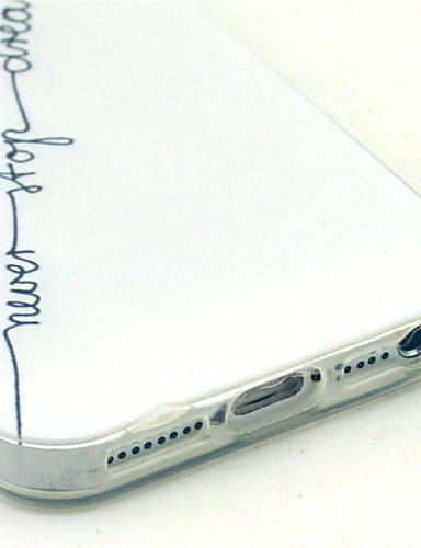 fodral Till iPhone 5 / Apple iPhone SE / 5s / iPhone 5 Mönster Skal Ord / fras Mjukt TPU