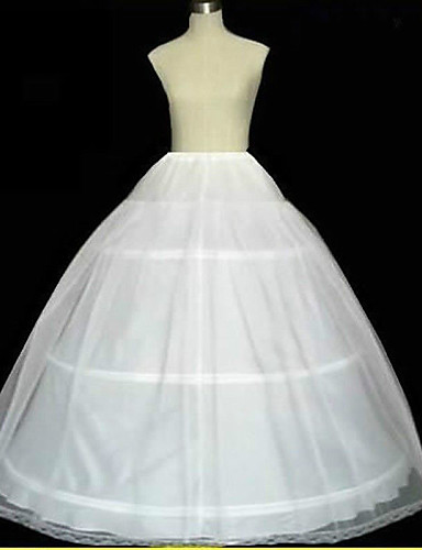 cheap Wedding Slips-Wedding / Special Occasion Slips Tulle Floor-length A-Line Slip / Ball Gown Slip / Chapel Train with