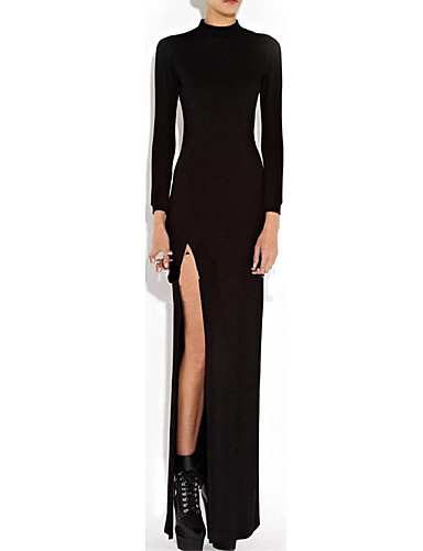 bca4e486271a Γυναικεία Πάρτι Βαμβάκι Εφαρμοστό Φόρεμα - Μονόχρωμο