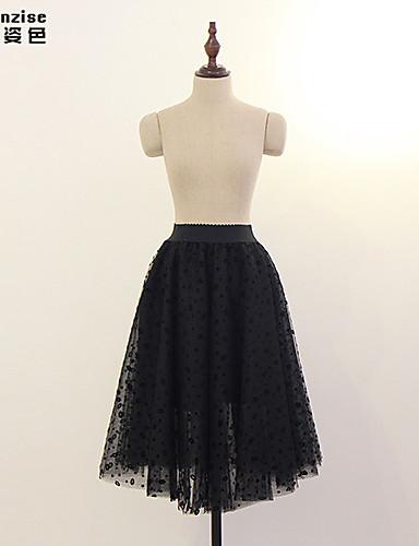 preiswerte Hosen & Röcke für Damen-Damen Alltag A-Linie Röcke - Solide Tüll Schwarz