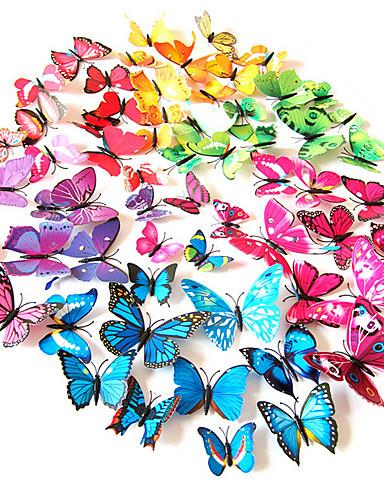 preiswerte Tier Wandsticker-Tiere Wand-Sticker 3D Wand Sticker Dekorative Wand Sticker Lichtschalter Sticker Kühlschrank Sticker Hochzeits Sticker, PVC Haus
